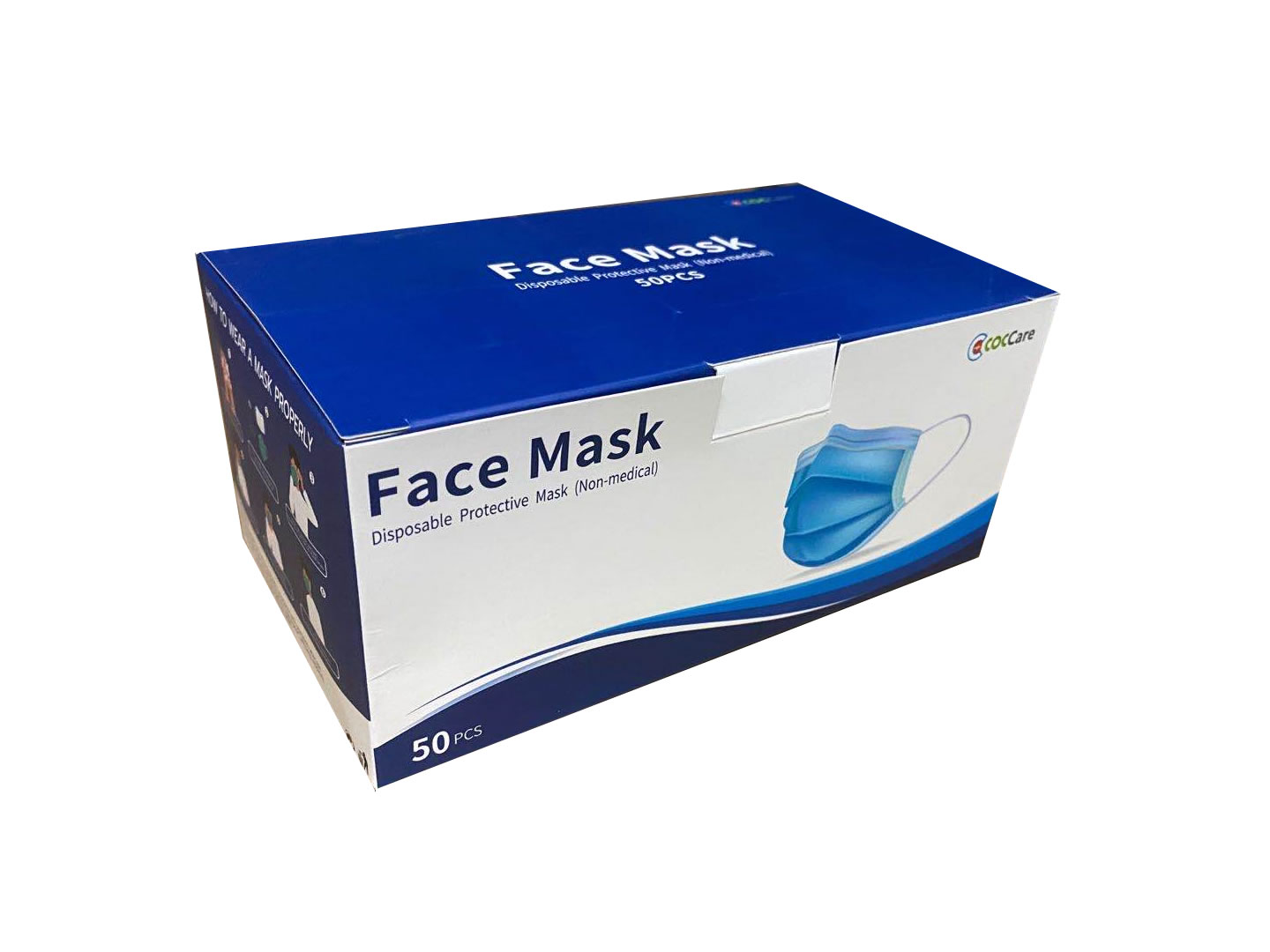 Color Box for 3 Ply Disposable Face Mask